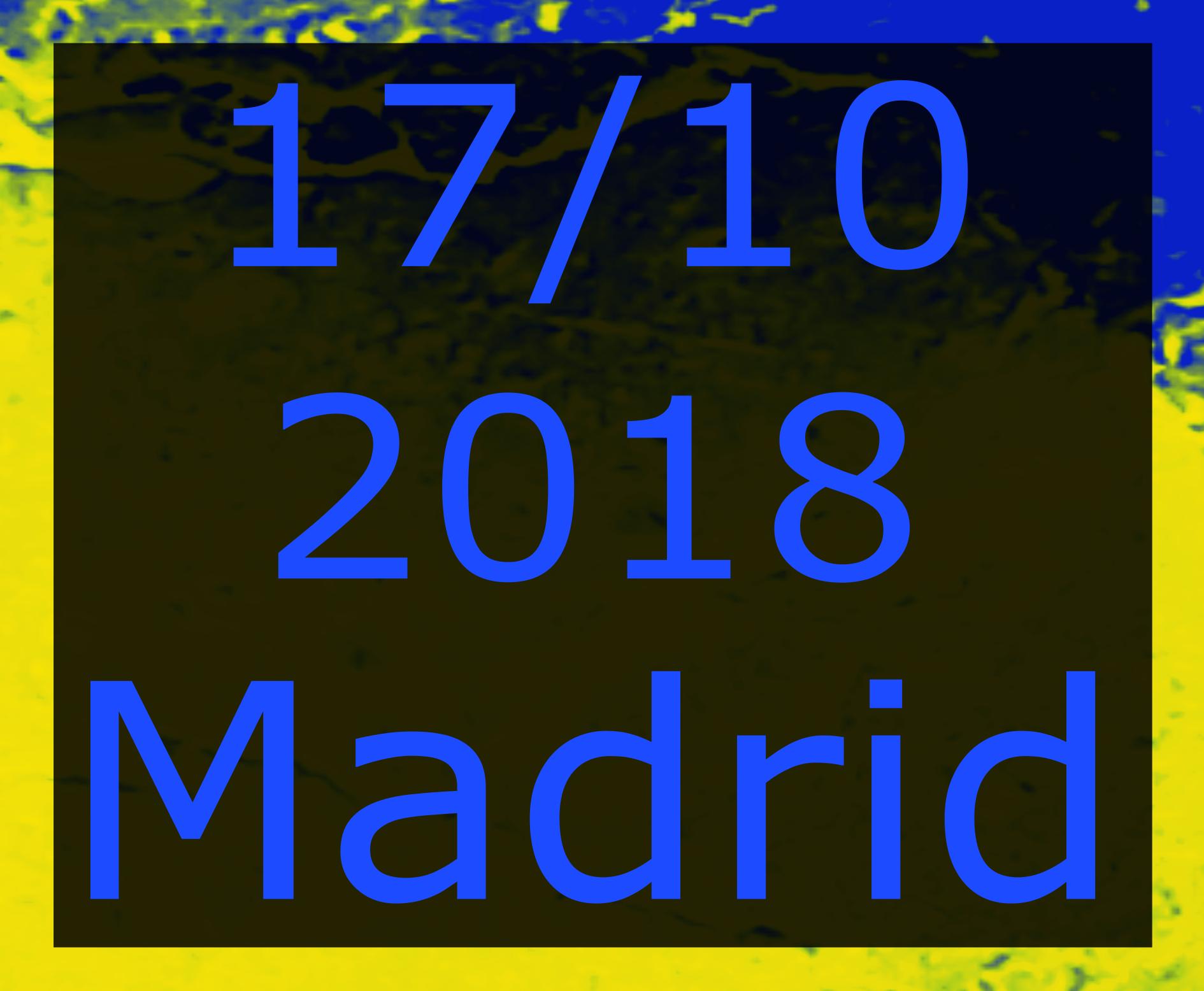 Madrid 17 ottobre 2018