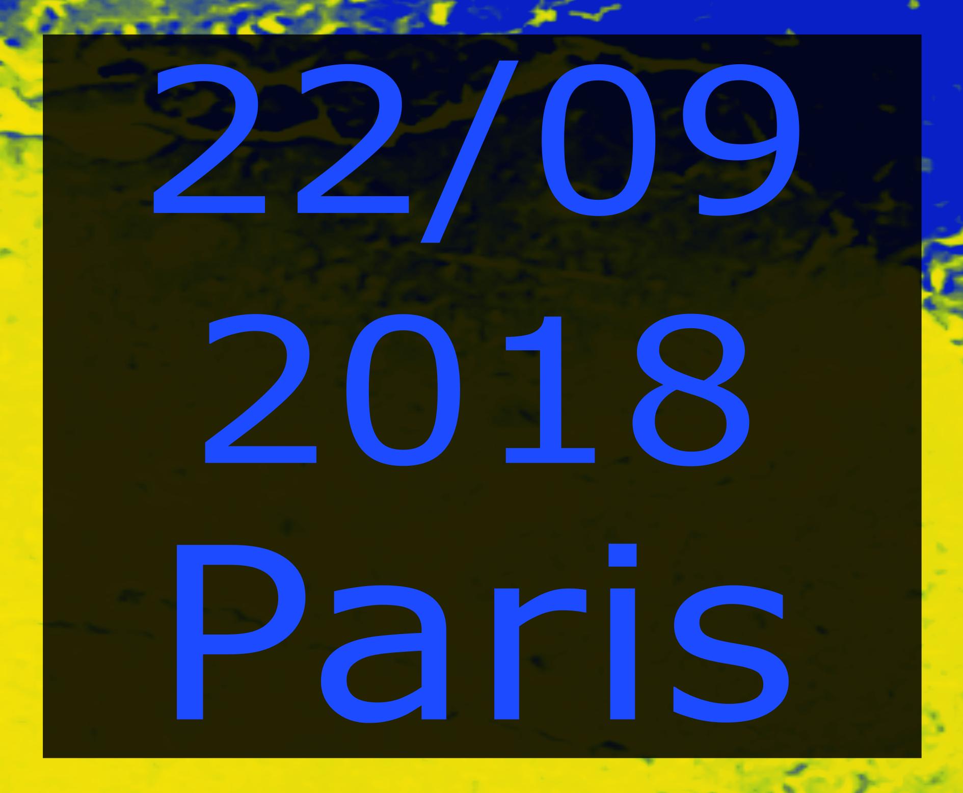 Paris 22 settembre 2018